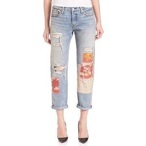 Levi's 501 Desperado Patch Jeans Distressed 32x32